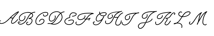 KBFancyFootwork Font UPPERCASE