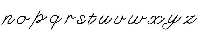 KBFancyFootwork Font LOWERCASE