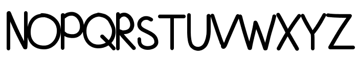 KBFirstGradeGrown Font UPPERCASE