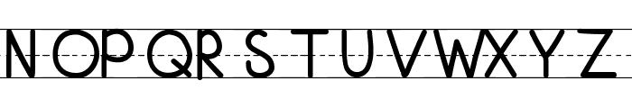 KBFirstGradeLines Font UPPERCASE