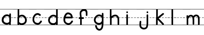 KBFirstGradeLines Font LOWERCASE