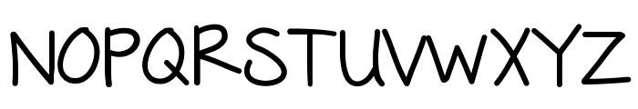 KBFreezerBurn Font UPPERCASE