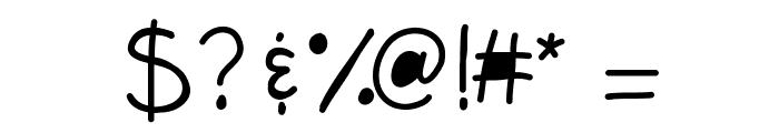 KBFunkyGlasses Font OTHER CHARS