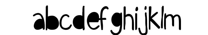 KBFunkyGlasses Font LOWERCASE