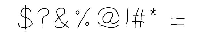 KBKinderWrite Font OTHER CHARS