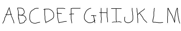 KBKinderWrite Font UPPERCASE