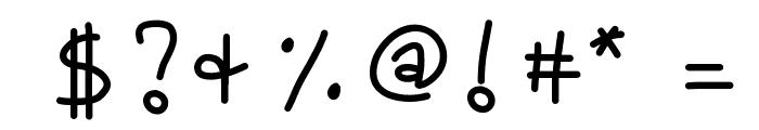 KBLOVEITDOWN Font OTHER CHARS