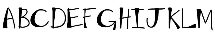 KBMoonLightFalls Font UPPERCASE