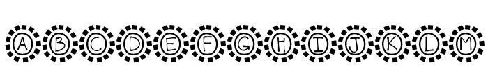 KBMosaic Font UPPERCASE