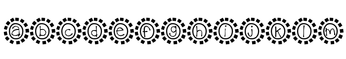 KBMosaic Font LOWERCASE