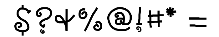 KBNosyNeighbor Font OTHER CHARS