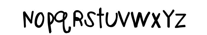 KBOneBigScrape Font LOWERCASE