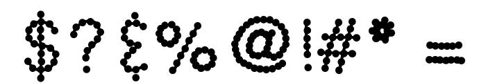 KBSkittledUp Font OTHER CHARS