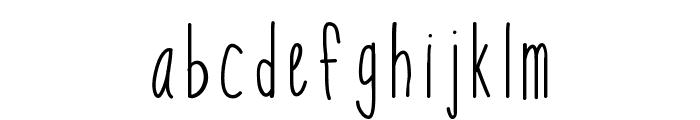 KBSoThinteresting Font LOWERCASE
