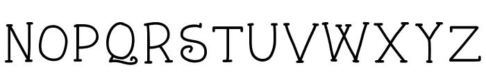 KBStarlight Font UPPERCASE