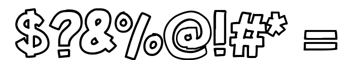 KBSticktoIt Font OTHER CHARS