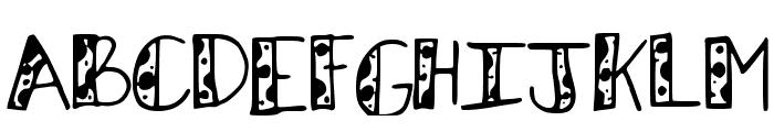 KBStripedPajamas Font UPPERCASE