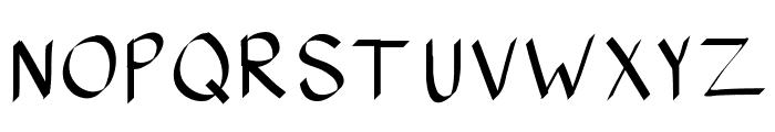 KBStylographic Font UPPERCASE