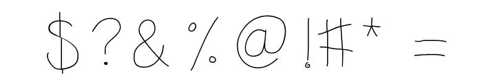 KBSunshine Font OTHER CHARS