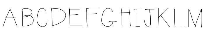 KBSunshine Font UPPERCASE