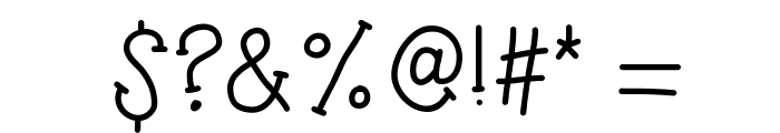KBTheSilentNight Font OTHER CHARS