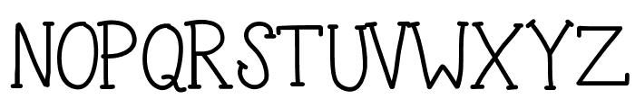 KBTheSilentNight Font UPPERCASE