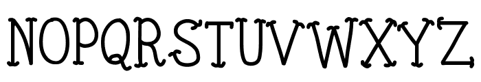 KBTinyRedWhale Font UPPERCASE