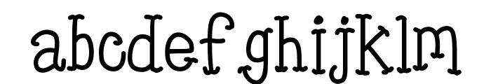 KBTinyRedWhale Font LOWERCASE