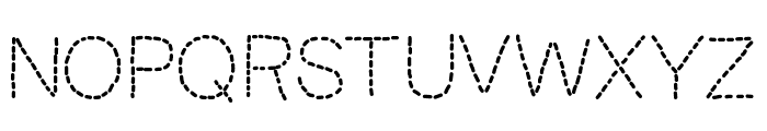 KBUnoDosTrace Font UPPERCASE