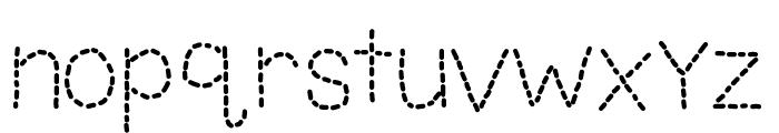 KBUnoDosTrace Font LOWERCASE