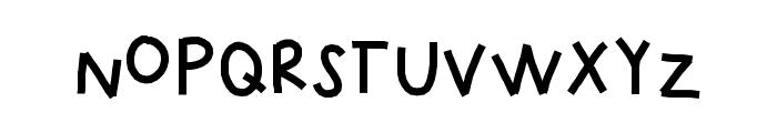 KBUpinSmoke Font LOWERCASE