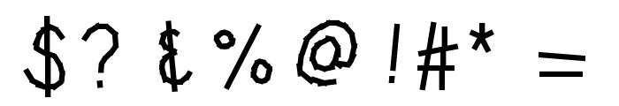 KBWashi Font OTHER CHARS