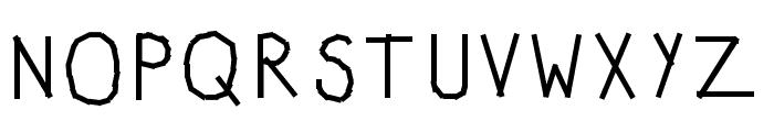 KBWashi Font UPPERCASE