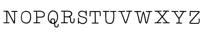 KBYoureJustMyTypeThin Font UPPERCASE