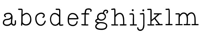 KBYoureJustMyTypeThin Font LOWERCASE