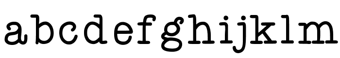 KBYoureJustMyType Font LOWERCASE