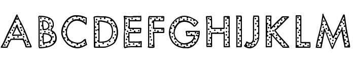 KBYouveBeenSpotted Font UPPERCASE