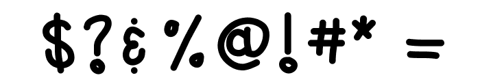 KBwhenpigsfly Font OTHER CHARS