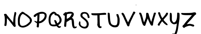 KC Script Medium Font UPPERCASE