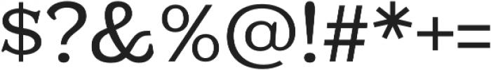 Kelvingrove Regular otf (400) Font OTHER CHARS