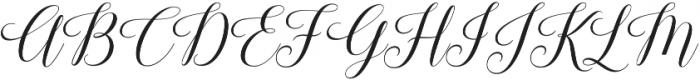 Keneisha otf (400) Font UPPERCASE