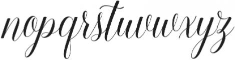 Keneisha otf (400) Font LOWERCASE