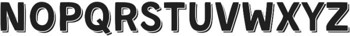 Kent 4F Shadowed otf (400) Font UPPERCASE