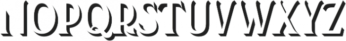 Kertayasa Shadow otf (400) Font UPPERCASE