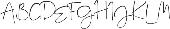 Key West Script Regular otf (400) Font UPPERCASE