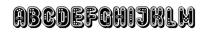 Keener Drilled Regular Font UPPERCASE