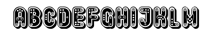 Keener Tuned Regular Font UPPERCASE