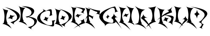 Kefka Font UPPERCASE