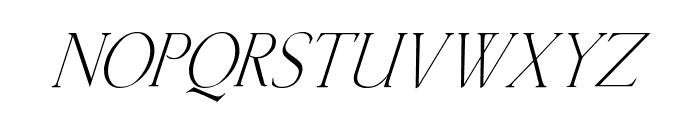Kellnear-Italic Font UPPERCASE