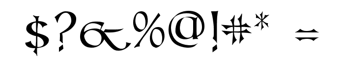 Kells SD Font OTHER CHARS